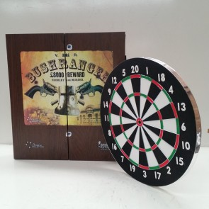 NEW TX-100 DART BOARD & NED KELLY BUSHRANGER CABINET