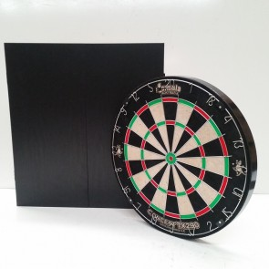 New Concept TX290 DARTBOARD & Black Ash Finish CABINET & Six DARTS