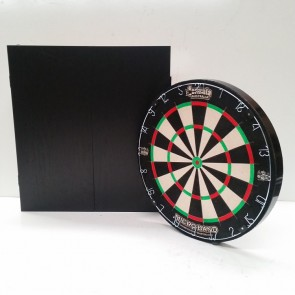 Micro Band DART BOARD & Black Ash Finish CABINET