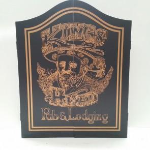 Kings Head Gold Dartboard Cabinet