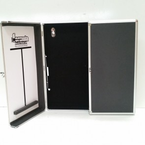Dartboard CABINET - Black with Aluminium Trim Finish