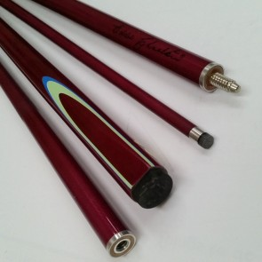 "EC 2 Pce Pool Snooker Billiards 57"" CUE - Purple with Blue & Lime Green Flame"