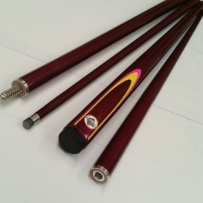 "54"" Composite 2 Pce Pool Snooker Billiards CUE - Purple Fluro with Yellow & Pink Flame"