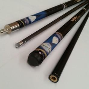 Graphite Suit & Bow Tie 57 Inch Pool, Snooker, Billiard Cue
