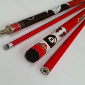 """Illusion"" 2 Pce Composite Pool Snooker Billiards 57"" CUE - Play Ball"