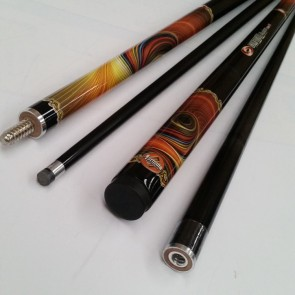 """Illusion"" 2 Pce GRAPHITE Pool Snooker Billiards 57"" CUE - Solar FX"