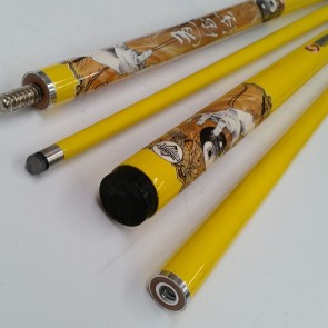 """Illusion"" 2 Pce GRAPHITE Pool Snooker Billiards 57"" CUE - Ying & Yang"
