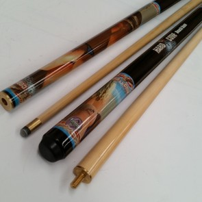 """Hard Core"" MAPLE 2 Pce Pool Snooker Billiards 57"" CUE - Beach Bum"