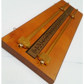 Wooden Snooker Billiards SCOREBOARD - MAPLE with BRASS Pointers and Rails