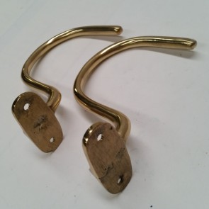 Medium Pool Snooker Billiards TABLE HOOK (Set of 2) To hold Jigger Sticks - BRASS