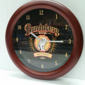 Bundaberg Rum Rosette Round Pool Room WALL CLOCK