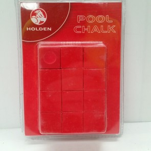 Official Licensed HOLDEN CUE CHALK - 12 Piece - RED