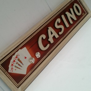CASINO Sign Three Dimensional 60 cm x 16 cm x 1.5