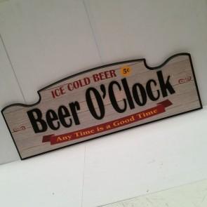Beer O'Clock 3-D Wall Sign