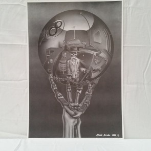 Skeleton Holding Crystal Ball POSTER