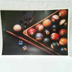 Antique 8 Ball Set & Triangle POSTER