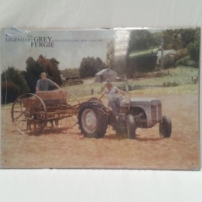 Australian Heritage Series Grey Fergie Tractor Farm Machinery Tin Sign