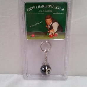 Eddie Charlton Number 8 Ball Key Chain