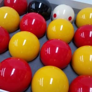 "Eddie Charlton CASINO POOL BALLS 2"" with 1 7/8"" Measle Ball"