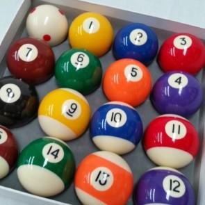 """Eddie Charlton KELLY POOL BALL Set 2"""" with 1 7/8"""" Measle White"""