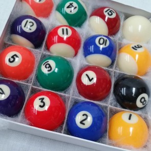 Standard KELLY POOL BALL Set 1 1/2""