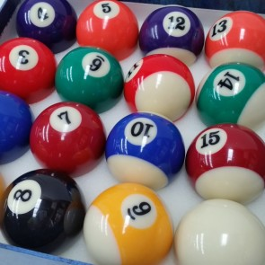 Standard KELLY POOL BALL Set 2 1/16""