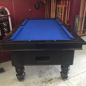 Black 7Ft Electronic Coin Op Pool Table With Accessories