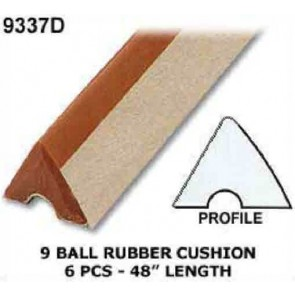 9 Ball Table CUSHION RUBBER - 6 Pce - 8' Table
