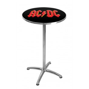 ACDC RED LOGO BAR TABLE