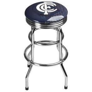 AFL Double Ring BAR STOOL - Carlton BLUES