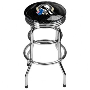 AFL Double Ring BAR STOOL - Collingwood MAGPIES