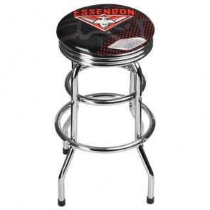 AFL Double Ring BAR STOOL - Essendon BOMBERS