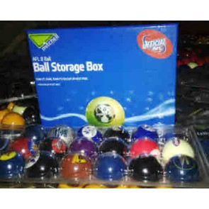 AFL Licensed POOL BALLS - 16 Pack $147.50 Each - TEAM COLOUR