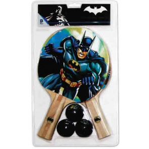Batman 2 Player TABLE TENNIS Set with 2 Bats & 3 Balls