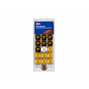 AFL Licensed POOL BALLS - 16 Pack - Hawthorn HAWKS