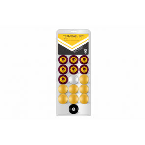 NRL Licensed POOL BALLS - 16 Pack - Brisbane BRONCOS