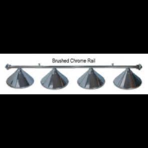 Metal BRUSHED CHROME Pool Snooker Billiards Table LIGHT - 4 x Light Hats