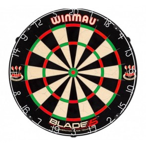 Professional Level Winmau Blade 5 Bristle DARTBOARD - 20% Thinner Dynamic Sector Wire