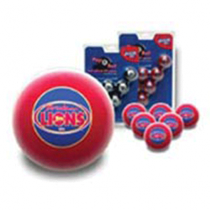 AFL Licensed POOL BALLS - 16 Ball Pack - Brisbane LIONS Old Logo