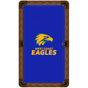 AFL Licensed Pool Snooker Billiards CLOTH 7 Foot - West Coast EAGLES