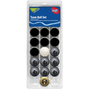 AFL Licensed POOL BALLS - 16 Pack - Collingwood MAGPIES