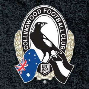 AFL Licensed Pool Snooker Billiards CLOTH 9 Foot - Collingwood MAGPIES