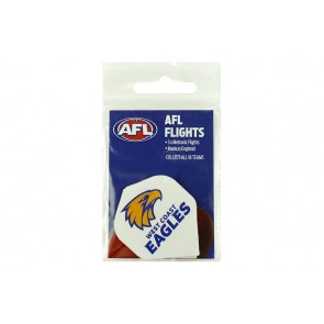 AFL Licensed DART FLIGHTS x 3 - West Coast EAGLES