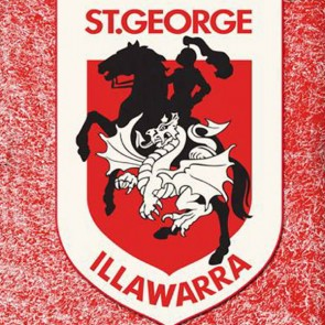 NRL Licensed Pool Snooker Billiards CLOTH 8 Foot - St George Illawarra DRAGONS