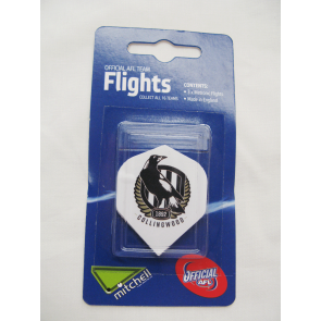 AFL Licensed DART FLIGHTS x 3 - Collingwood MAGPIES