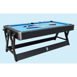 7Ft Dual Function Spin Around Pool Snooker Billiards Air Hockey Table