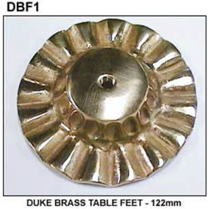 Duke TABLE FEET - 122mm - BRASS
