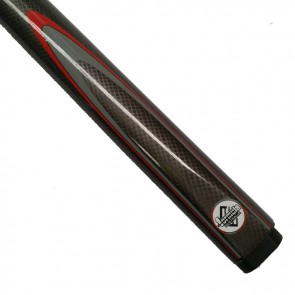 "48"" Comp 2 Pce Pool CUE & CASE -  Black & Red with Flame"
