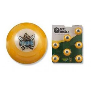 NRL Licensed POOL BALLS - 7 Ball Pack - Gold Coast TITANS