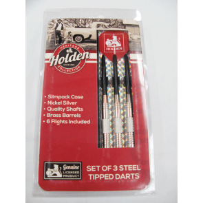 Official Licensed Holden DARTS - 3 x Nickel Silver Darts